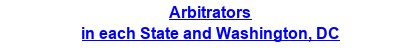 Arbitrators in each State and Washington, DC